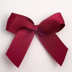 Burgundy Satin Ribbon Bows