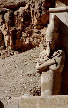Hatshepsut temple detail, Deir El-Bahari, Egypt