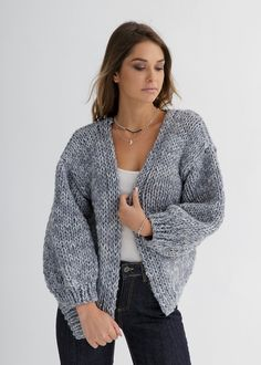 Chunky Knitwear, Oversized Cardigan, Cardigan Pattern, Knit Cardigan, Big Wool, Stockinette, A 17, Outfit Of The Day, Knitting Patterns