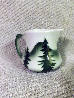 Vintage Restaurant Ware Creamer - Syrup Pitcher - Diner China ~ Pine Trees #13 | eBay