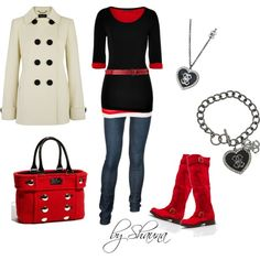 """""""fun pops of red"""" by shauna-rogers on Polyvore"""