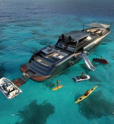 Luxury yacht design interior trip sailing and having private party on super mega boat life style for vacation and wedding on deck with style ond model of black and etc Yacht Design, Super Yachts, Yacht Interior, Interior Design, Cool Boats, Small Boats, Yacht Boat, Sailing Boat, Yacht Club