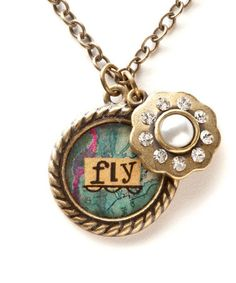 Another great find on #zulily! Goldtone 'Fly' Pendant Necklace by Kelly Rae Roberts #zulilyfinds