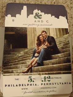 How to Save the Date? Part IV :  wedding philadelphia save the dates stationery Pb0130001 PB0130001