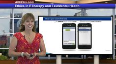 Explore ethical and legal issues related to online therapy.