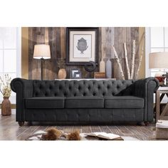 Find a couch, sofa or loveseat that suits your needs and fits perfectly in your home. At Wayfair, we carry Zillions of couch styles to fit any home's decor. Tufted Sofa, Sofa Upholstery, Fabric Sofa, Chesterfield Sofas, Chesterfield Living Room, Wingback Chair, Sofa Bed, Joss And Main, Home Design