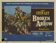 Broken Arrow - Lobby card with James Stewart, Debra Paget & Jeff Chandler