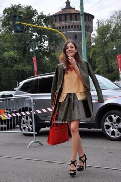 Eleonora Carisi on the Streets of Milan