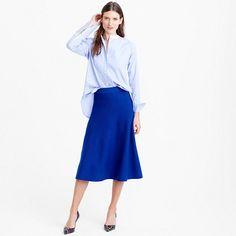 "We blended two of our favorite things for fall—the midi skirt silhouette and comfy sweater dressing—and the result is this chic, winter-ready skirt. Wear it with its matching top or any other shirt in your closet. <ul><li>Sits at waist.</li><li>28 1/2"" long.</li><li>Falls below knee.</li><li>Merino wool.</li><li>Elastic waistband.</li><li>Dry clean.</li><li>Import.</li><li>Select stores.</li></ul>"