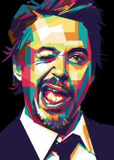 downey poster by from collection. By buying 1 Displate, you plant 1 tree. Pop Art Posters, Poster Prints, Art Prints, Pop Art Artists, Pop Art Portraits, Pop Culture Art, Leonardo Dicaprio, Poster Making, Tony Stark