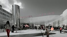 A rendering of the redesigned Nørreport Station set to be completed at the end of the year. See more at: www.interiordesign.net #interiordesignmagazine #interiordesign #NørreportStation #design #denmark #copenhagen #cobe #trainstation #rendering #gottliedpaludanarchitects