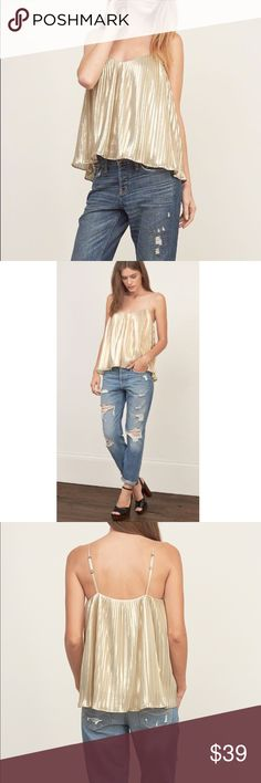 30%OFF Abercrombie & Fitch pleated shine cami XS *Limited time: Additional