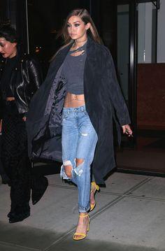 — Gigi Hadid - New York City, April 11, 2016.