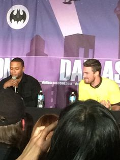 Stephen Amell and David Ramsey at Dallas Comic Con 2015