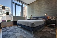 HIGHLINE RESIDENCE  |  dreamy bedroom  |  ultra modern  |  love the upholstery on the bed