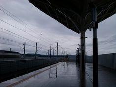 It's raining...station osong korea..