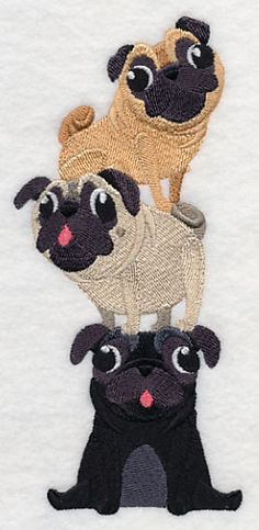 Machine Embroidery Patterns Machine Embroidery Designs at Embroidery Library! Best Embroidery Machine, Embroidery Scissors, Learn Embroidery, Free Machine Embroidery Designs, Embroidery Ideas, Border Embroidery, Emblem, Machine Design, Pugs