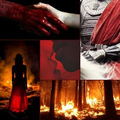 An aesthetic for the next books coming in the Sand Dancer series! They'll be BLOOD! FIRE! And a little bit of death.