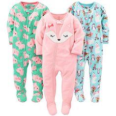 Simple Joys by Carters Baby and Toddler Lot de 3 pyjamas sans pieds en coton pour gar/çon