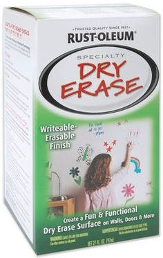 Dry erase wall paint - available at home depot - for the gym room