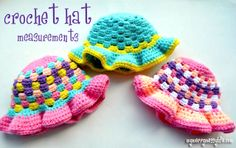 How to Crochet or Knit A Hat for Any Head Size via My Merry Messy Life