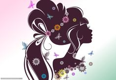 Girl section face hair silhouette flower eyelash background Cute Wallpaper Backgrounds, Girl Wallpaper, Cute Wallpapers, Flower Silhouette, Girl Silhouette, Quilling, Beauty Background, Female Profile, Arte Pop