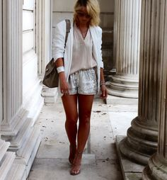 sequins and white