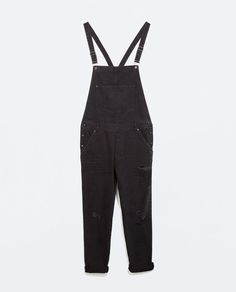 ZARA - MAN - RIPPED DENIM DUNGAREES