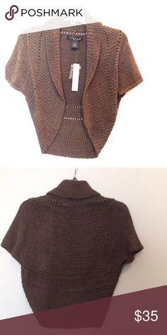 NWT Knit Shrug Short sleeve shrug. 60% acrylic, 40% nylon venue Sweaters Shrugs & Ponchos