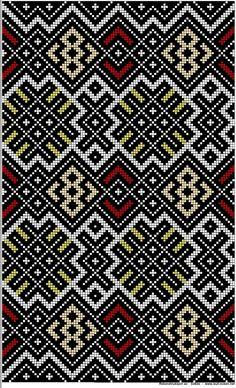 smoyg026 NF.1934-0224 Designer Knitting Patterns, Textile Patterns, Cute Cross Stitch, Cross Stitch Patterns, Etnic Pattern, Tapestry Crochet, Brick Stitch, Knitting Stitches, Fiber Art