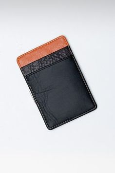 card case - I like the mix of black and brown here