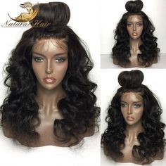 76.32$  Buy here - http://ali3i5.worldwells.pw/go.php?t=32784936326 - 8A Unprocessed Virgin Brazilian Full Lace Wigs Human Hair With Baby Hair Natural Wave Glueless Full Lace Front Wigs