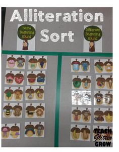 Great activity to introduce alliteration