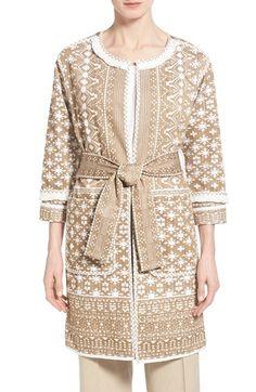 Kobi Halperin 'Maribel' Belted Jacquard Coat