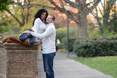 """{     SESSION IN MERIDIAN HILL PARK: DAVITTA + JASON    } ... """"Using a bit of their wedding day colors, Davitta and Jason wanted an engagement session that was a reflection of them and their big day. Maroon, a tulle skirt, and the beautiful outdoors make this e-session both beautiful and delightful. Take a look at Davitta and Jason's playful outdoor engagement session in Meridian Hill Park. Photos by Rhea Whitney Photography."""" -Bride-to-be: Davitta Callaham -Groom-to-be: Jason Kauffman"""