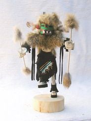 """Navajo Kachina - Ram Animal Navajo Kachina Dancer Doll. This game animal is said to have the power to cure the ill and bring rain. 6"""", 10"""" or 12"""" - from $39.95"""