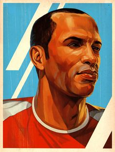The Arsenal Collective - A Home for Memories of The Arsenal - Gallery - Thierry Henry / Tavis Coburn God Of Football, Best Football Team, Arsenal Football, Arsenal Fc, Arsenal Wallpapers, Thierry Henry, Artist Names, Portfolio, Dear Santa