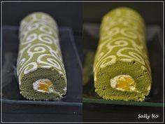 mango greentea roll