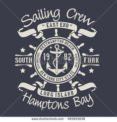 Sailing marine  typography, tee shirt graphics, vectors