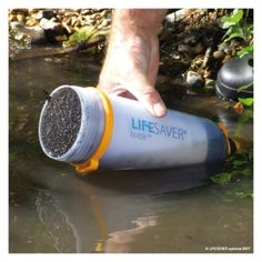 Lifesaver Water Bottle - Developed in response to natural disasters, the Livesaver water bottle can filter up to 6000 liters of hazardous and potentially fatal water before it needs a filter change.
