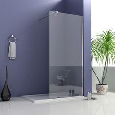Bathroom Walk in Shower Enclosure 8mm Easyclean Glass Screen Cubicle Stone Tray