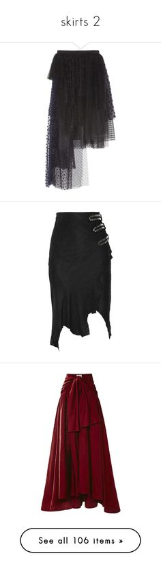 """skirts 2"" by hellhoundcruz ❤ liked on Polyvore featuring skirts, bottoms, black, chloe, long tiered skirt, mesh maxi skirt, sheer overlay maxi skirt, long mesh skirt, long tulle skirt and balmain"