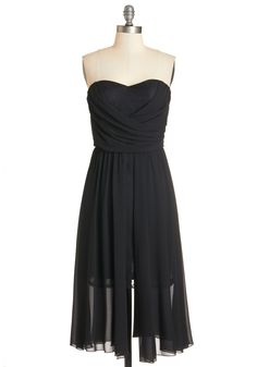 Love Me Splendor Dress. Its love at first sight when you slip into this stunning evening gown! #black #modcloth