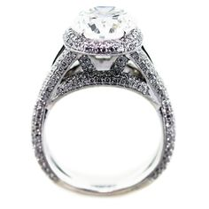 GIA certified - 5.25 carat - Oval Halo Diamond Engagement Ring - Solid Platinum- Luxury - Custom  $250,000.00