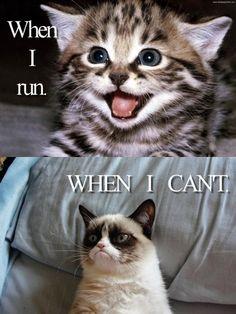 Running makes everything better.