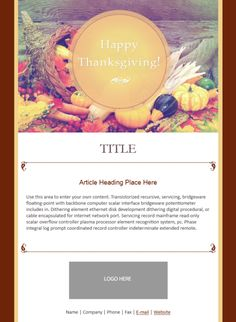 111 best email templates from constant contact images on pinterest email template thanksgiving friedricerecipe Choice Image