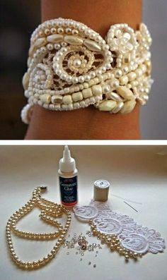 bracelet manchon en perles