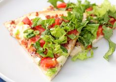 BLT pizza...I just made these...yum...substituted pizza crust for flour tortillas