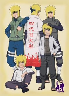 "Minato throught the years ~ From childhood till Hokage I added the ""Lost Tow. Minato through the years Anime Naruto, Kushina Y Naruto, Manga Anime, Sakura E Sasuke, Naruto Cute, Naruto Shippuden Anime, Itachi, Wallpaper Naruto Shippuden, Naruto Wallpaper"