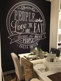 Maybe the new dining area ? - Probably new Flat Ideas - Chalkboard Restaurant, Kitchen Chalkboard, Blackboard Wall, Chalk Wall, Chalkboard Art, Diy Interior, Interior Design Living Room, Bakery Interior, Speisenkarten Designs
